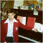 1981 - Wearing the school band uniform